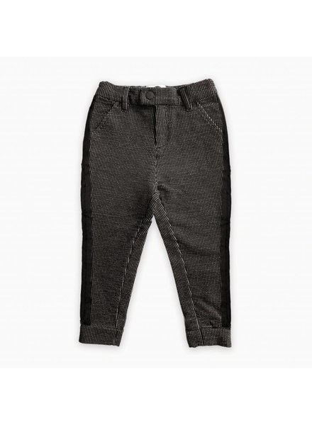 Sproet & Sprout Sweat chino black & off-white stripe