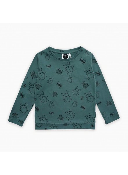 Sproet & Sprout T-shirt longsleeve bugs allover forest green - maat 62