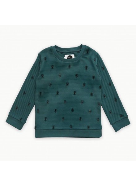 Sproet & Sprout Sweater ants allover forrest green - maat 68