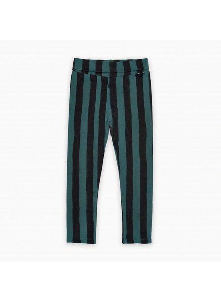 Sproet & Sprout Legging skinny forrest green & black stripe