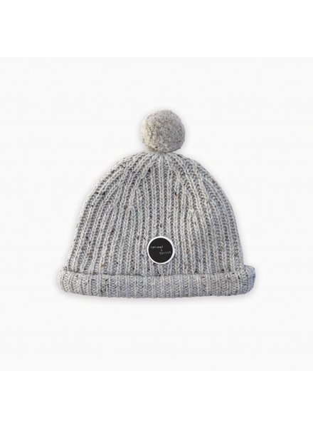 Sproet & Sprout Beanie pompon light grey melee