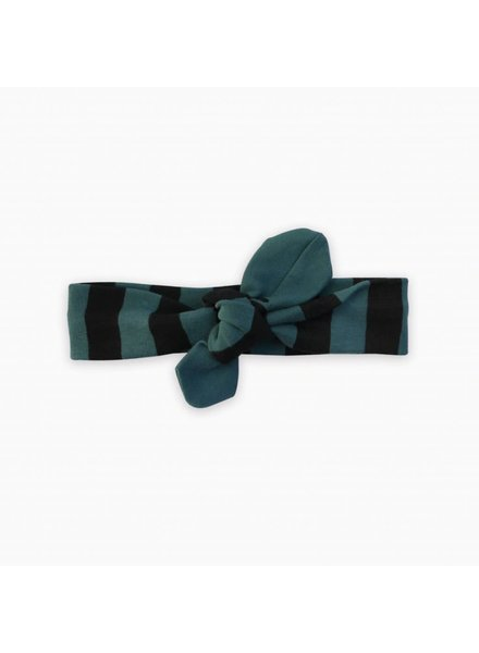 Sproet & Sprout Headband black & forrest green stripe