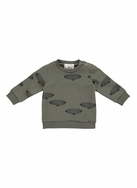 Gro Company Gro dark army - baby sweat - maat 74