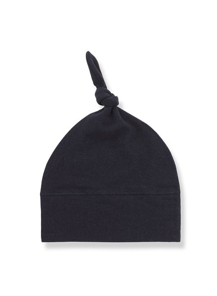 1 + In the Family Fina beanie w/knot blue Maat 1 & 2