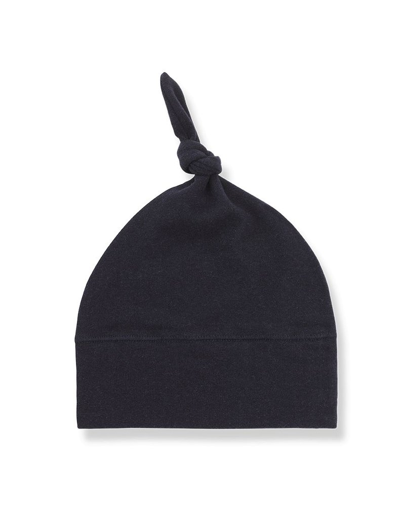 1 + In the Family Fina beanie w/knot blue - Maat 1 & 2