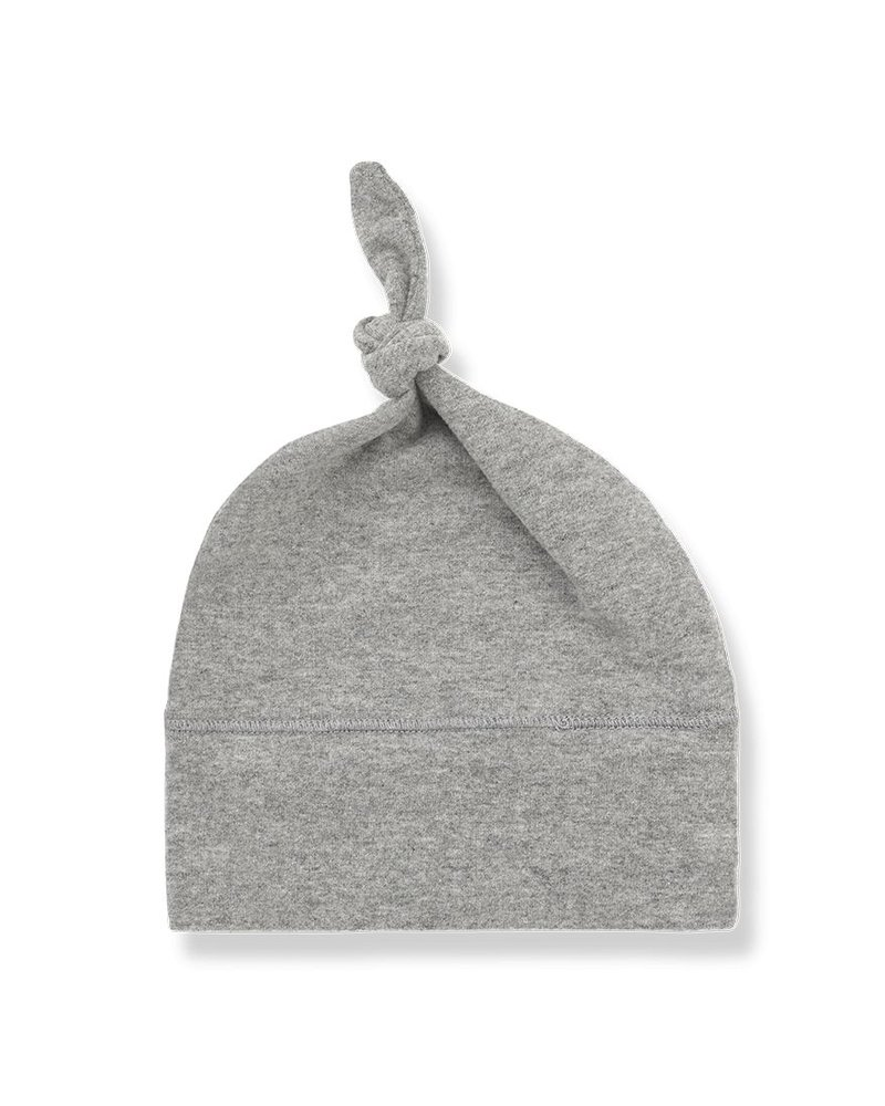 1 + In the Family Fina beanie w/knot light grey - Maat 1 & 2