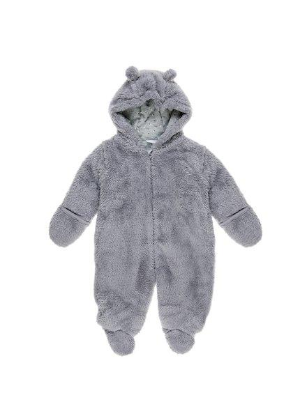 Feetje Teddypak met kap - Hugs and Kisses - Grijs