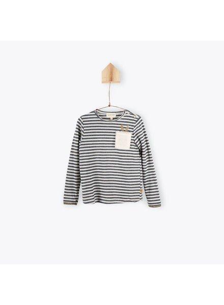 Arsene et les Pipelettes Tee-shirt jersey rayé poche