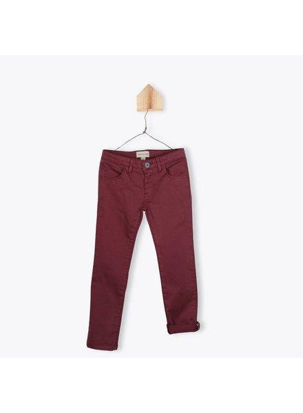 Arsene et les Pipelettes Pantalon gabardine stretch prune