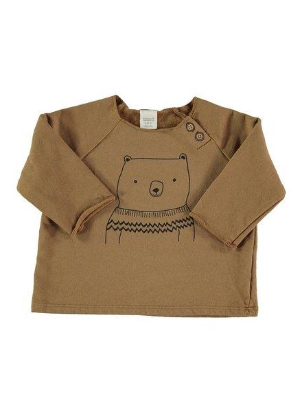 Beans Geilo - Organic cotton bear sweatshirt - Camel