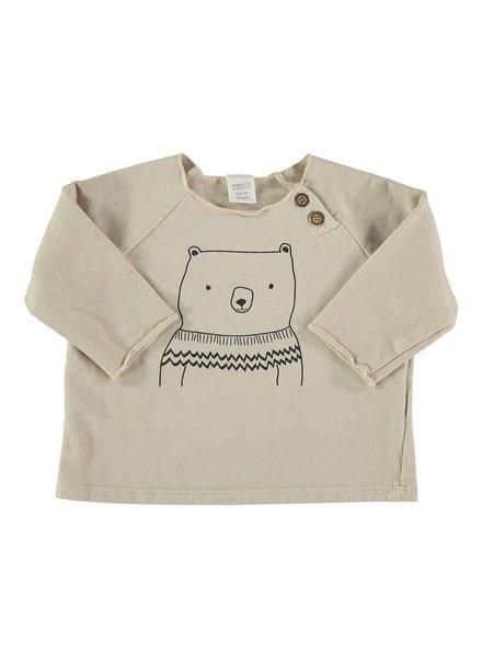 Beans Geilo - Organic cotton bear sweatshirt - Stone