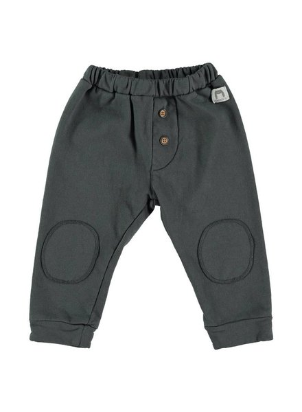 Beans Idre - Melange cotton pants with knee pads - Anthracite