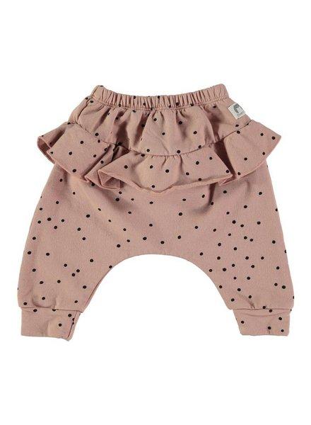 Beans Vars - Organic cotton girl printed pants - Pink