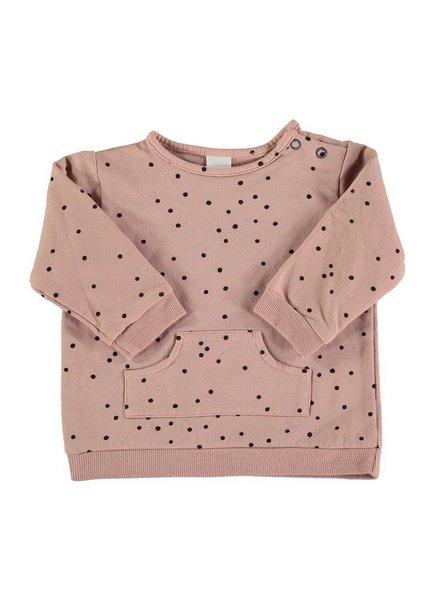 Beans Levi - Organic cotton printed sweatshirt - Pink