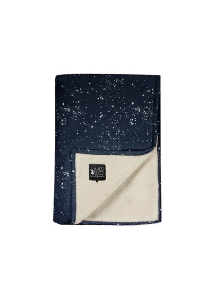 Mies & Co Baby soft teddy blanket Galaxy parisian night