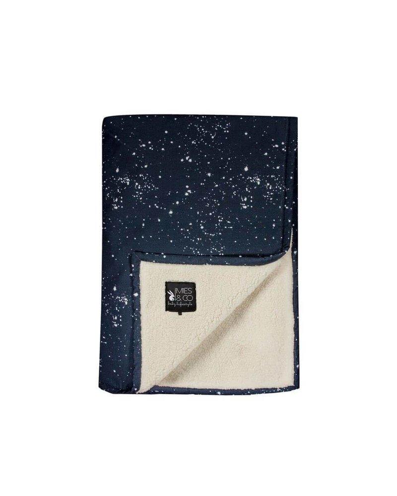 Mies & Co Baby soft teddy blanket Galaxy parisian night