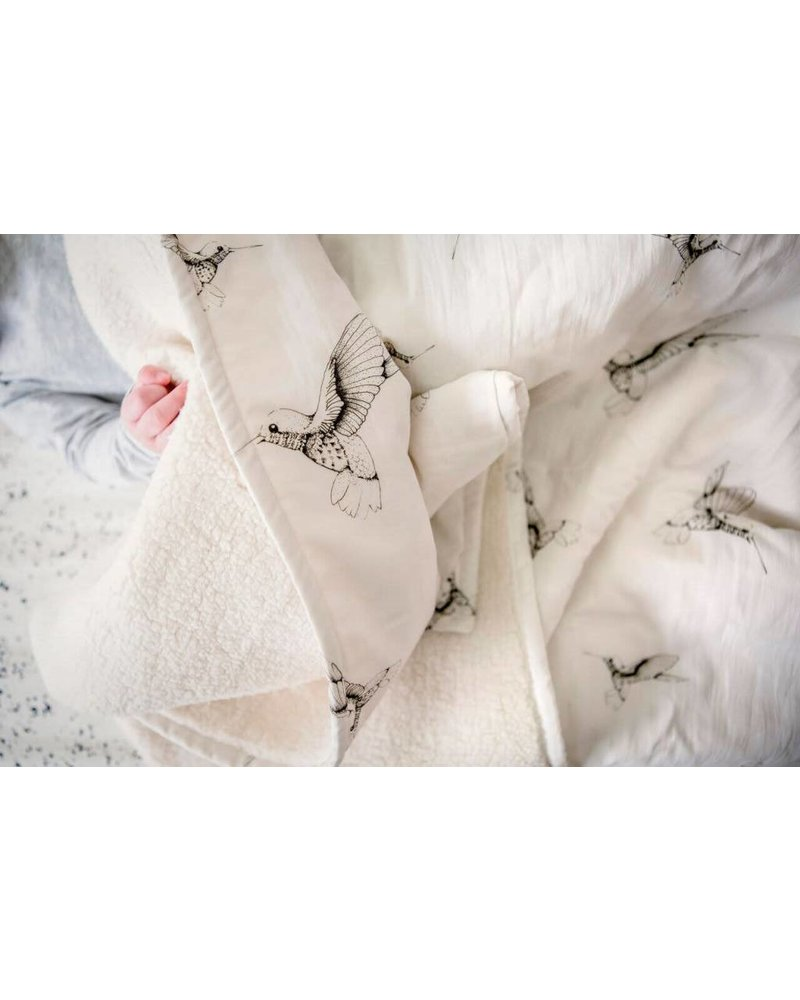 Mies & Co Baby soft teddy blanket Cloud dancers offwhite