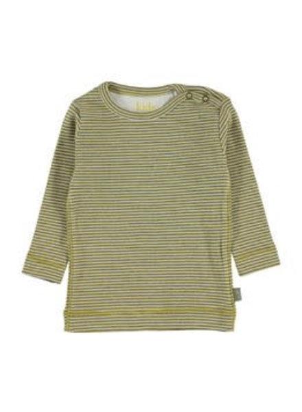 Kidscase Perrie organic NB t-shirt yellow - maat 80