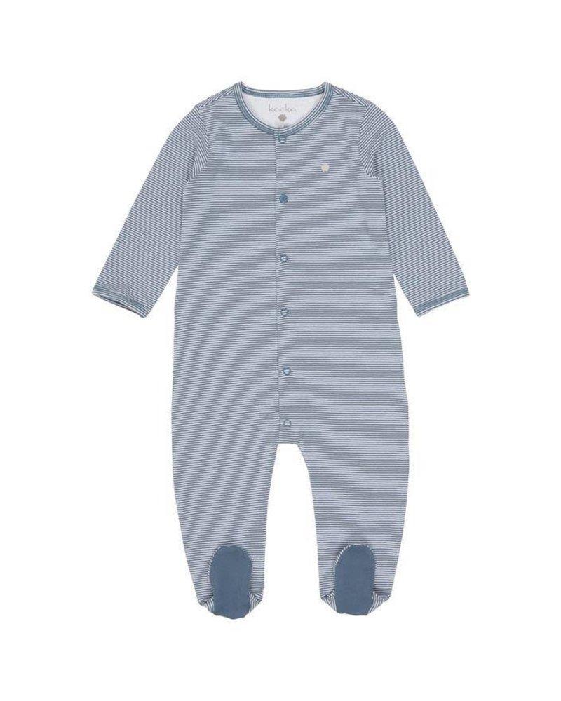 Koeka Babypakje met voetjes Elwyn - Stormy Blue