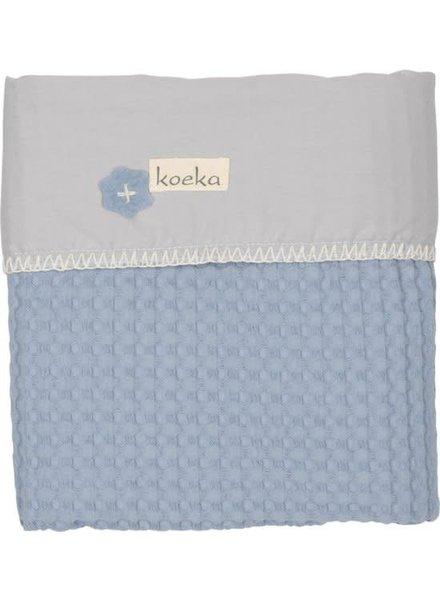 Koeka Deken Antwerp Wieg - Soft Blue/ Silver Grey (512/600)
