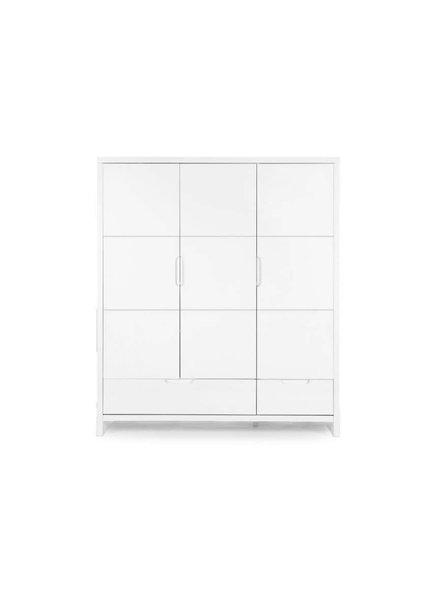 Childhome Quadro White - Kast 3 Deuren + 2 Laden