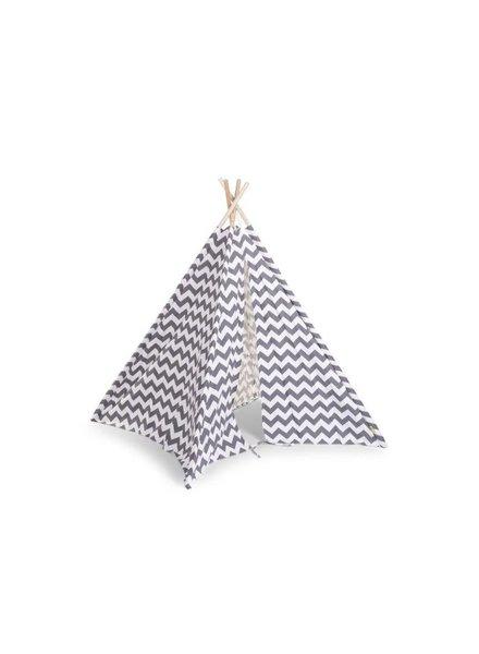 Childhome Tipi - Tent Zigzag Grijs/ Wit