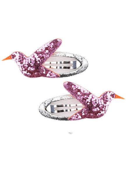Set van 2 cliclac-speldjes met vogels