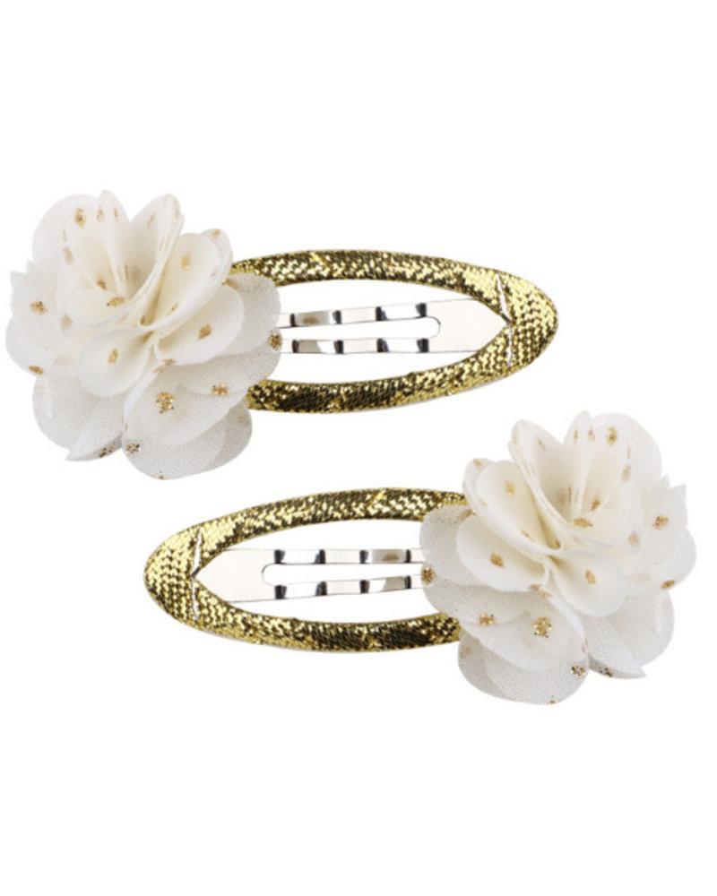 Set van 2 cliclac-speldjes met bloem
