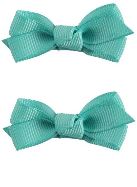 Set van 2 haarspeldjes - groene strik