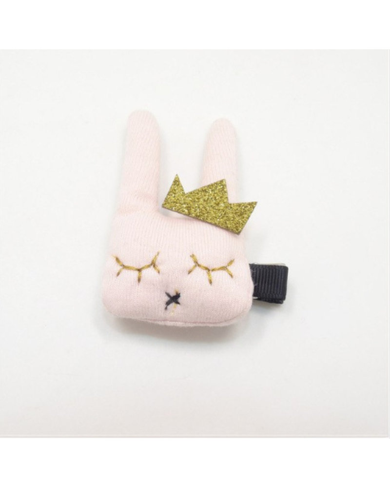Haarspeldje konijn - roze