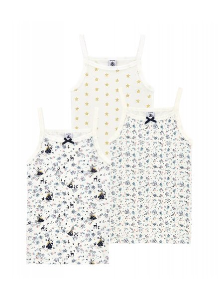 Petit Bateau Set van 3 onderhemdjes - maat 2 jaar