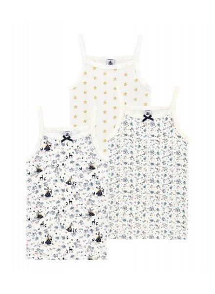 Petit Bateau Set van 3 onderhemdjes