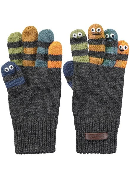 Barts Almanzo Gloves - dark heather