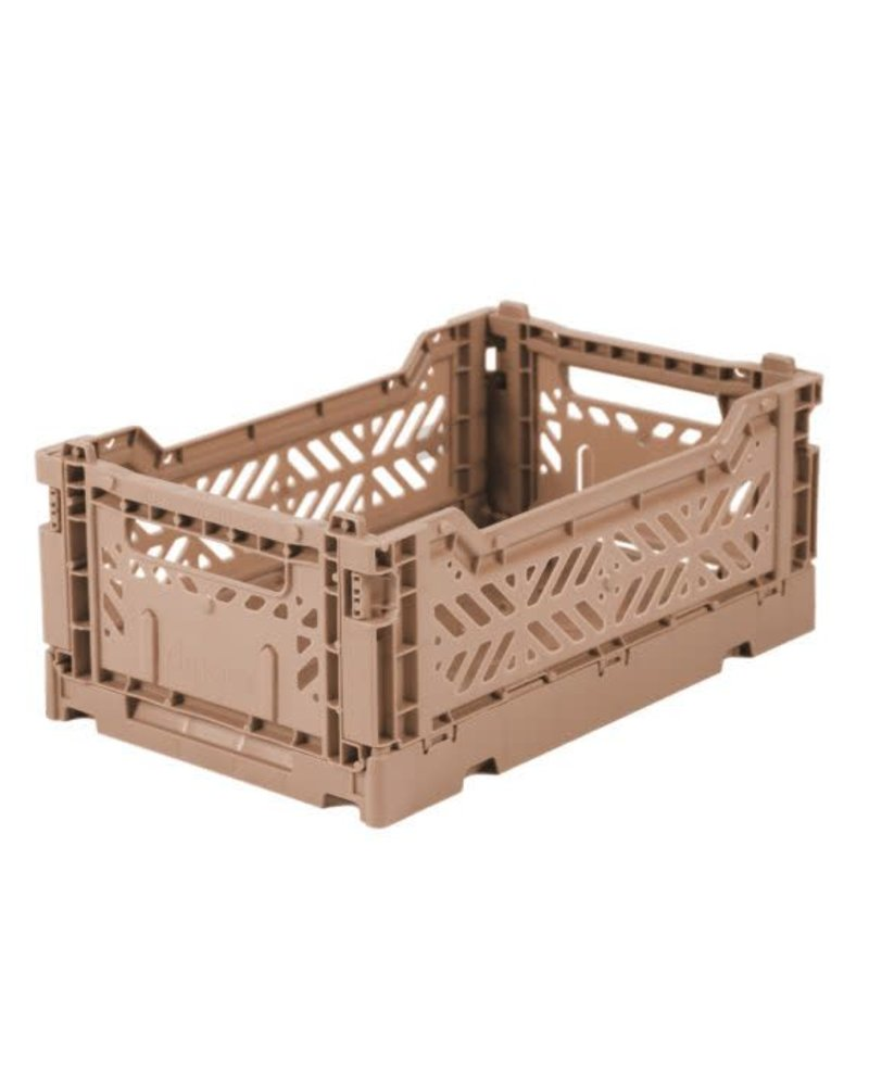 Eef Lillemor Folding Crate - Mini Warm Taupe
