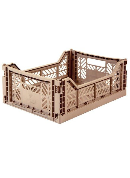 Eef Lillemor Folding Crate - Midi Warm Taupe