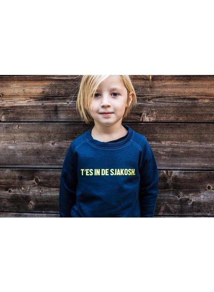 Ket.Official Sweater T'es in de sjakosh - navy/yellow