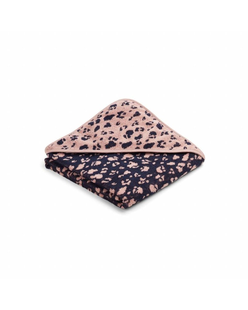Liewood Ebba Terry Hooded Towel - Leo Rose