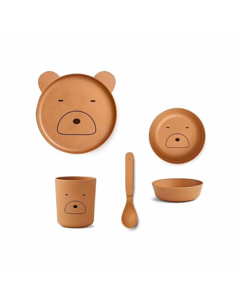 Liewood Bamboo box set - Mr. Bear mustard