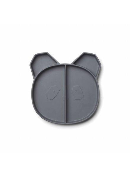 Liewood Maddox Multi Plate - Panda Stone Grey