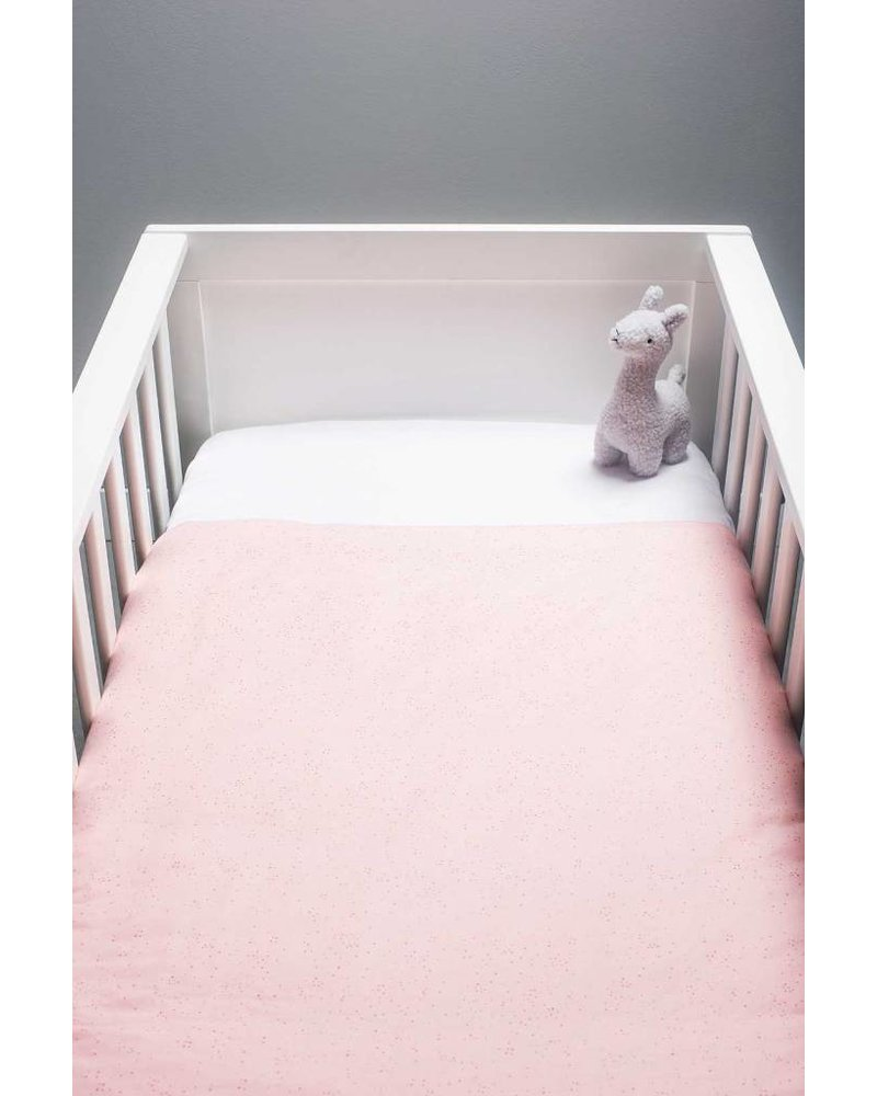 Jollein Overtrek ledikant 100x140cm mini dots blush pink