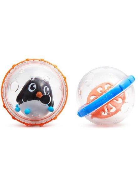 Munchkin 2 drijvende speelballen pinguïn