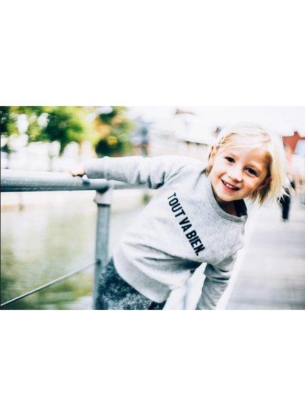 Ket.Official Sweater  Tout van bien - grey/zwart