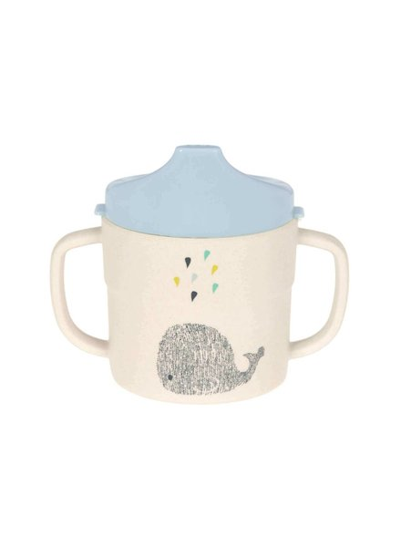 Lässig Sippy cup bamboo - Little water whale