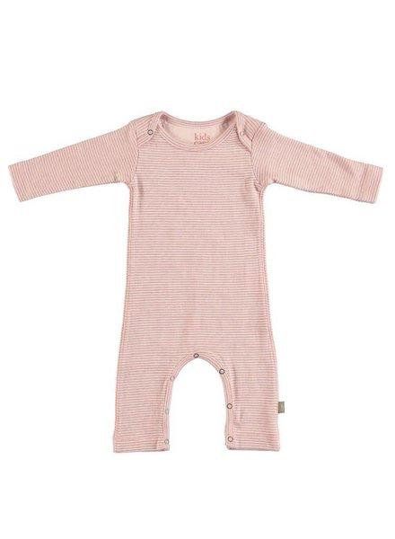 Kidscase Perrie organic NB suit pink - maat 50