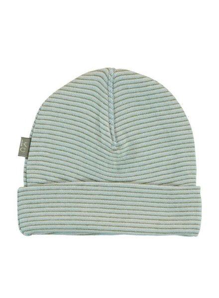 Kidscase Perrie organic NB hat light blue - Maat 0/3M & 3/6M