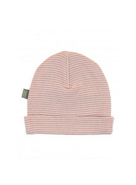 Kidscase Perrie organic NB hat pink - Maat 0/3M & 3/6M