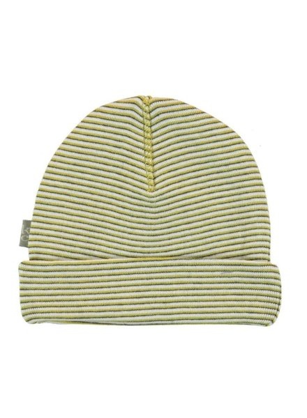 Kidscase Perrie organic NB hat yellow - Maat 0/3M & 3/6M