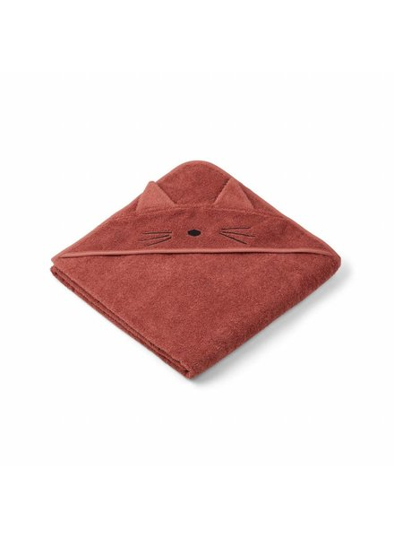 Liewood Augusta Hooded Towel - Cat Rusty