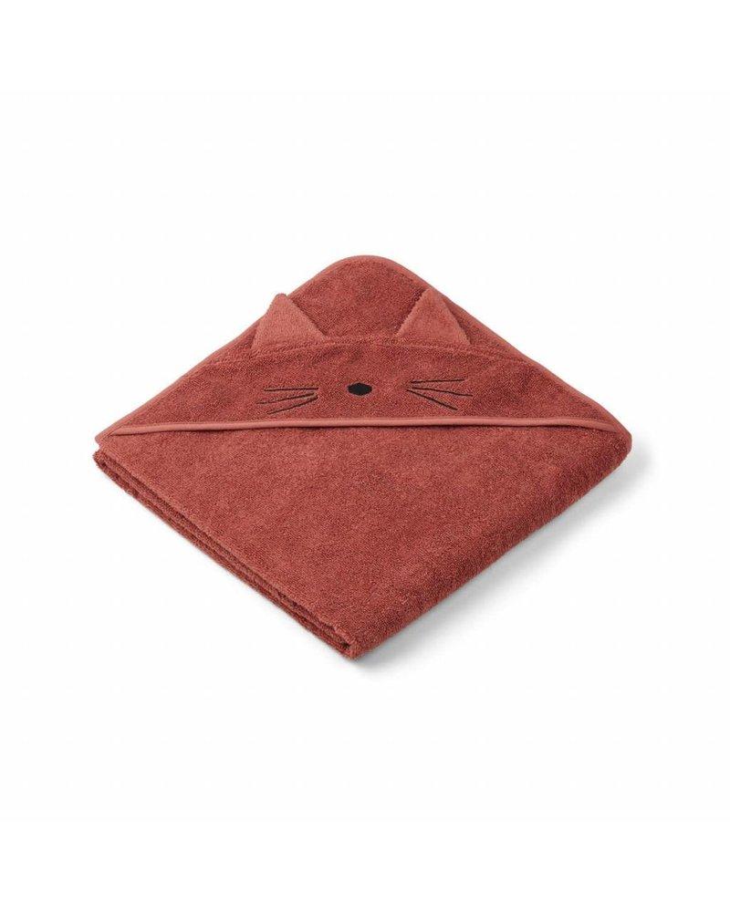Liewood Augusta Hooded Towel - Cat Rusty