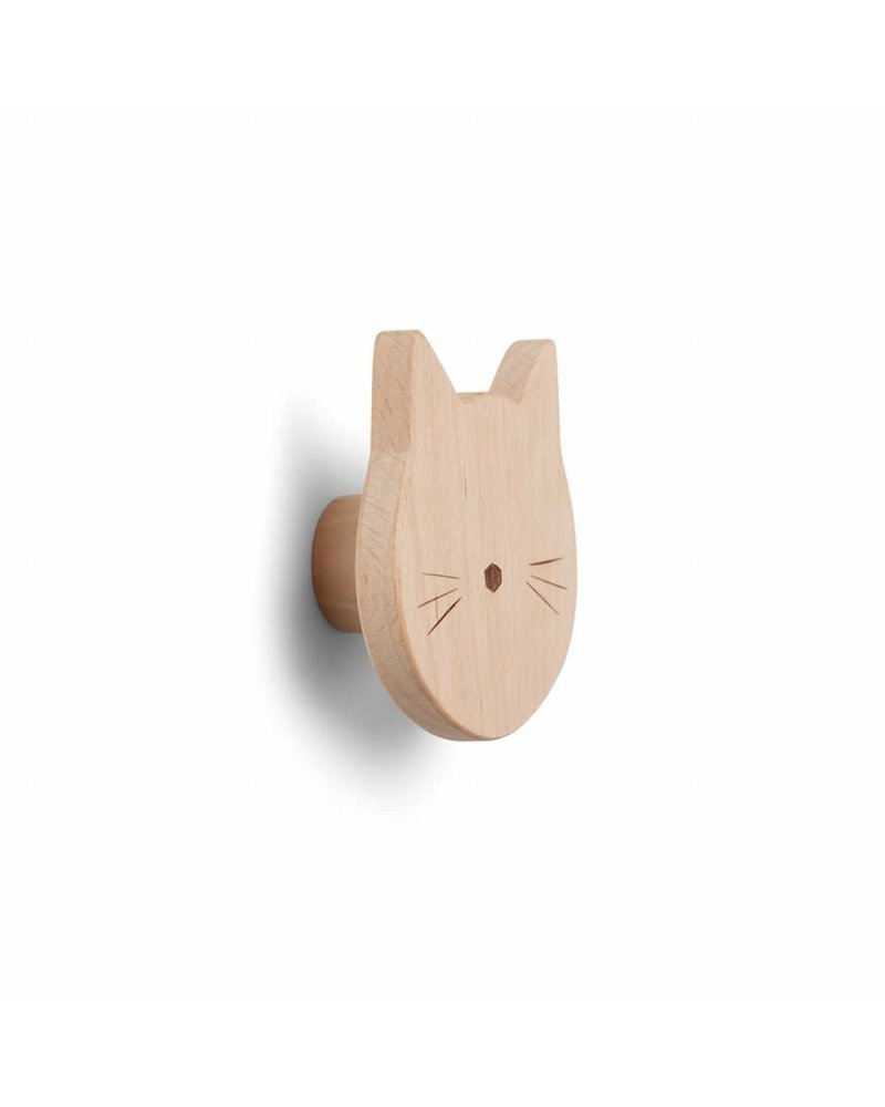 Liewood Ida knob - Cat natural